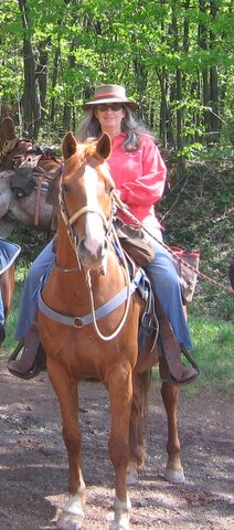 Nadine Fox of Buck Valley Ranch offers guests horseback riding vacations in Pennsylvania