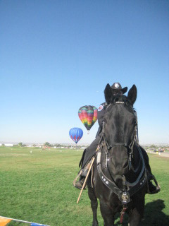 Horseback Riding Vacation at International Balloon Fiesta, Albuquerque, New Mexico