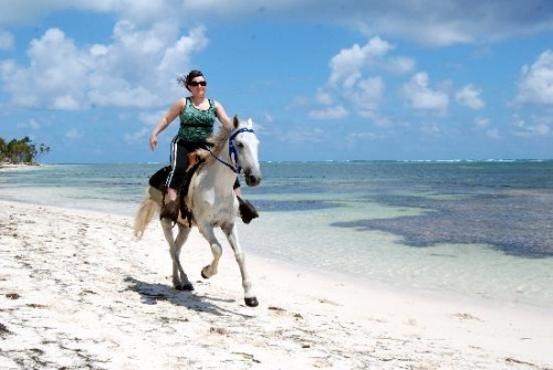 horseback riding on the beach. Horseback Riding Vacation on