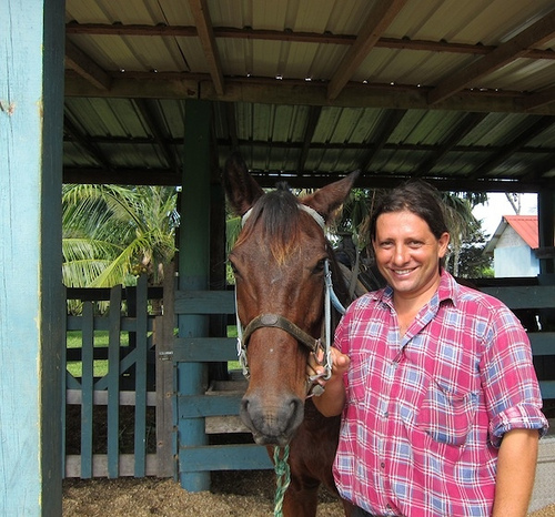 Santiago Juan takes equestrians on a horseback riding vacation in Belize