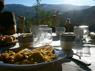 Expect a home cooked breakfast during your horseback riding vacation at Estancia Ranquilco