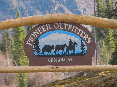 Pioneer Outfitters sign