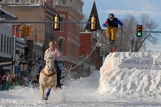 Leadville, ski joring