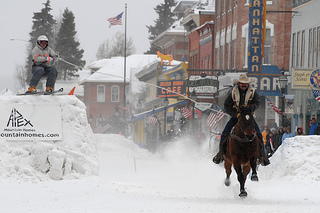 Leadville, Colorado, ski joring