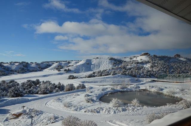 Red Reflet Ranch, snow