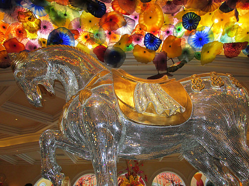Bellagio Las Vegas, horse, Chihuly