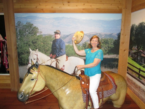 Nancy D. Brown, Ronald Reagan, horseback riding