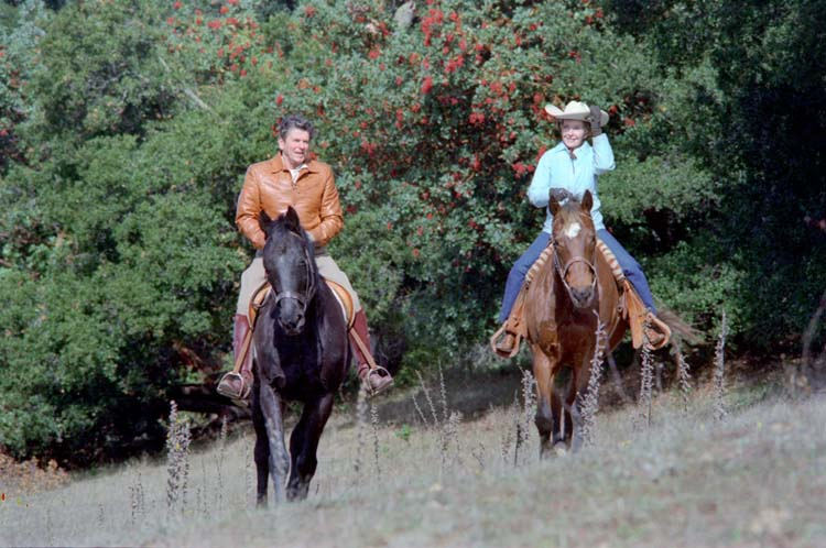 Ronald Reagan, Rancho del Cielo, horseback riding