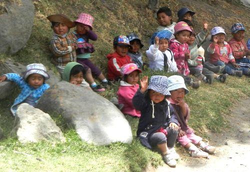 smiling children, ecuador children