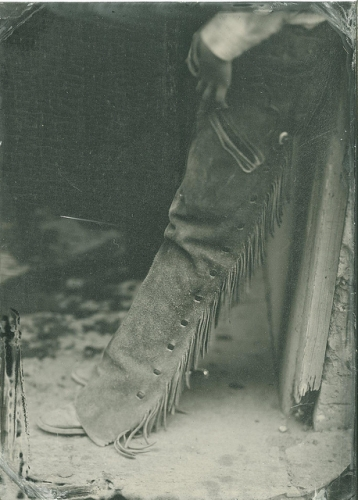 cowboy, chaps, texture, tintype, lindsey ross