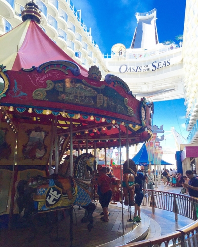merry go round, royal caribbean, oasis of the seas, carousel