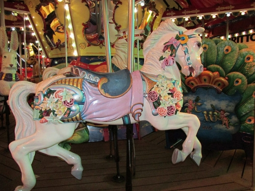 carousel world, horse, carousel at sea