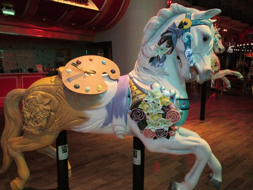 carousel horse, horse, oasis of the seas