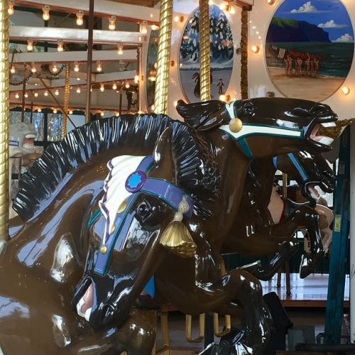 Carousel on National Register of Historic Places. Photo © 2016 Nancy D. Brown