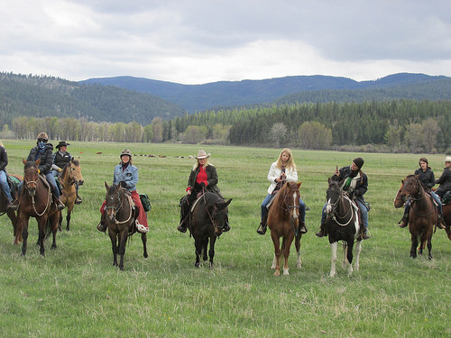 cowgirl spring round up, resort at paws up, missoula, montana, horseback riding vacation