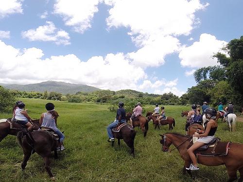 horseback riding, san juan, puerto rico, carabali rainforest park