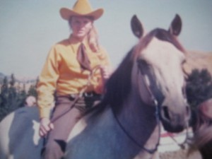 Nancy Mooers Brown at her first horse show