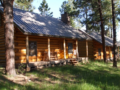 Luxury Cabins on your horseback riding vacation at Hidden Meadow Ranch