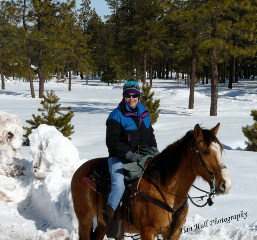 Donna Hull on a Horseback Riding Vacation