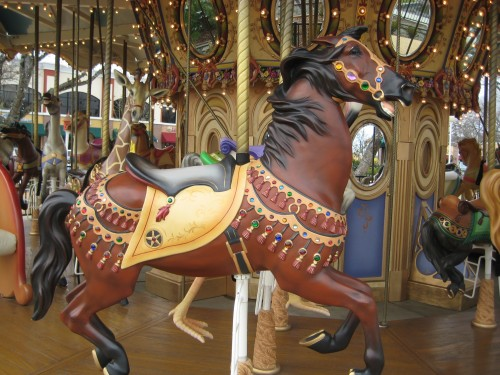 Bay Carousel Horse at the Nut Tree Plaza, Vacaville, California  - Not Your Typical Horseback Riding Vacation