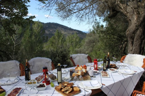 A gourmet Mallorcan picnic delivered by donkey at Hotel La Residencia in Spain