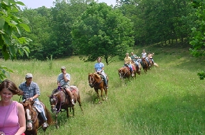 Uncle Clem's offers high adventure horseback riding vacations