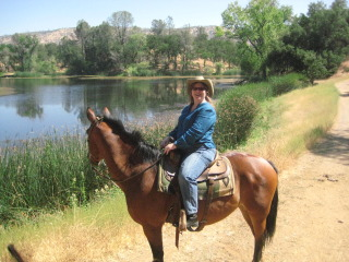 Nancy and Beau on a horseback riding vacation with Copper Valley Trail Company