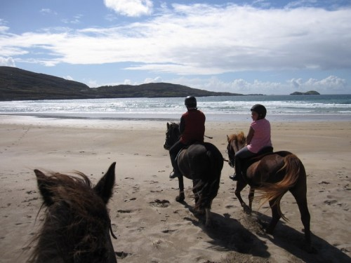Visit Derrynane Beach on a horseback riding vacation with Eagle Rock