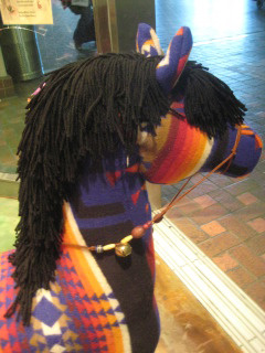 New Mexico Artist turns Pendleton blanket into horse of a different color