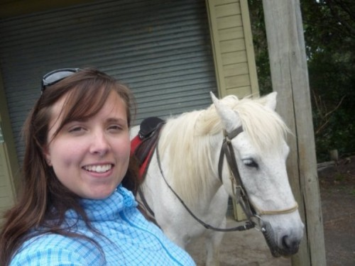 Author Cailin O'Neil ready to go on a horseback riding vacation at Horse Trek'n