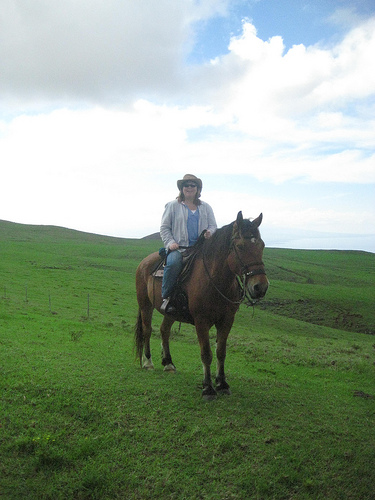 Nancy & Kohala on a Big Island Horseback Riding Vacation in Hawaii