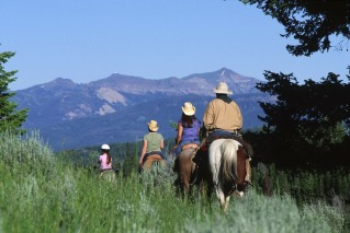 Horseback Riding Vacation at The Club at Spanish Peaks in Big Sky, Montana