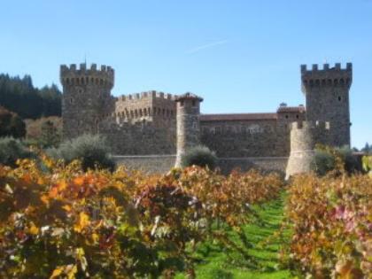 Take a horse drawn vineyard tour in Calistoga, CA at Castello di Amorosa