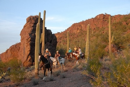 Take a ride in the Arizona desert on your next horseback riding vacation