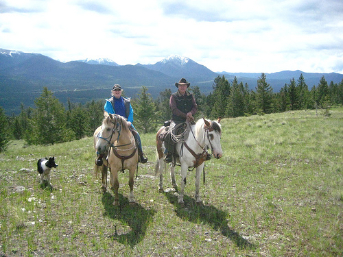 Bring your own horse on horseback riding vacation at Big Bar Guest Ranch
