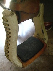 Ortho-Flex Bell Rawhide Stirrups will keep your feet happy on your horseback riding vacation