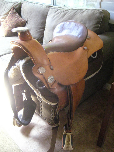 Original Ortho-Flex Western Saddle For Sale