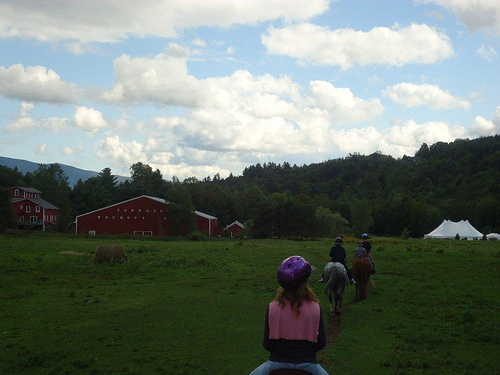 Horseback riding vacation in Stowe, Vermont