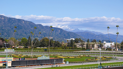 Santa Anita Park for horse racing and horseback riding vacations in the San Gabriel Mountains
