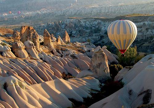Hot air balloon in Cappadocia, Turkey on a horseback riding vacation