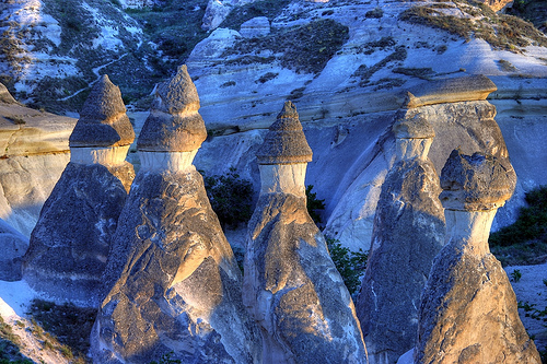 You'll see fairy chimneys from Cappadosia, Turkey during your horseback riding vacation