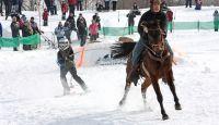 Ski Joring in Quebec, Canada