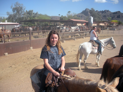 Everything is kid-friendly  on your horseback riding vacation at White Stallion Ranch