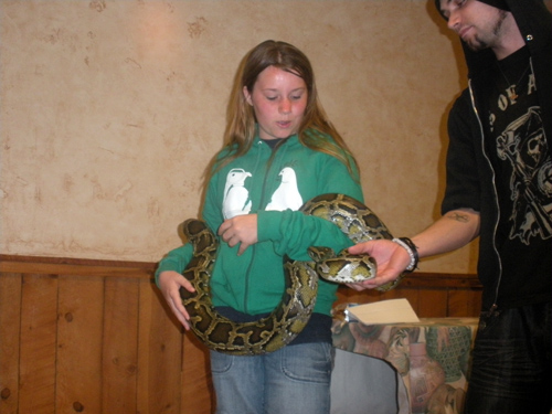 Better to find these snakes at Zoo Night than on a horseback riding vacation at White Stallion Ranch