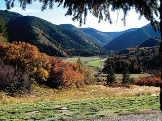 The High Lonesome Ranch rests atop the Western slope of the Colorado Rockies.