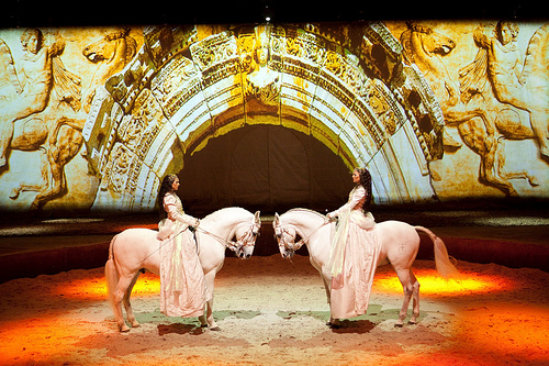 Did you know a 210-foot wide screen serves as a backdrop for the projections and special effects for Cavalia?