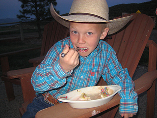 You won't go hungry on a horseback riding vacation at High Lonesome Ranch