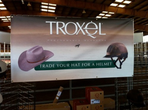 trade your hat for a helmet