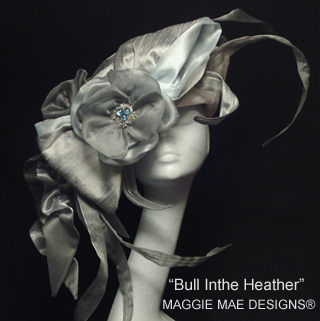 Bull in Heather hat, Maggie Mae Designs