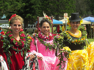 Pa'u riders from  Big Island, Maui, Oahu, Hawaii